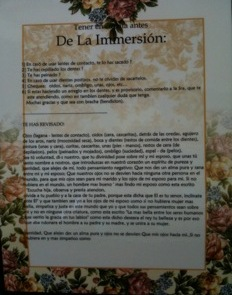 Laminated Mikvah Preparation Room Checklist (Spanish)