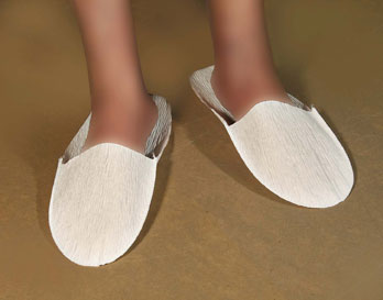 Disposable White Paper Slippers Dozen