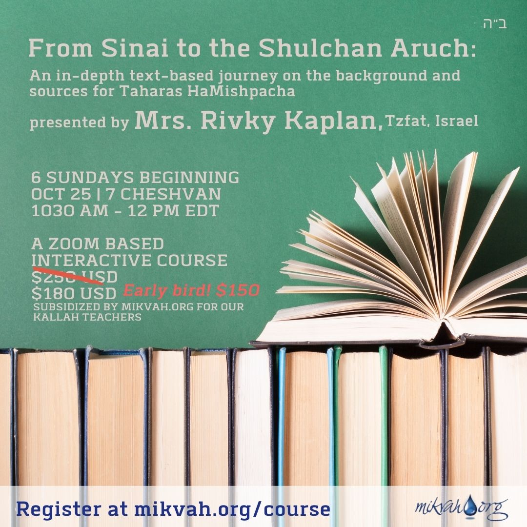 From Sinai to the Shulchan Aruch Fall 5781