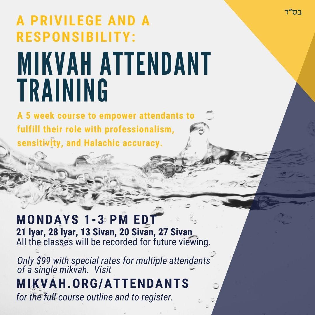 Mikvah Attendant Training